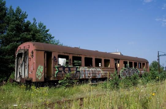 Ryflak 101A odstawiony na grupie towarowej w Trzebini.